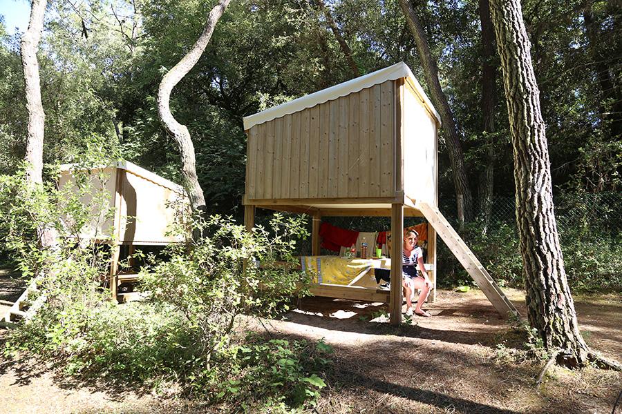 Location insolite au camping en Vendée